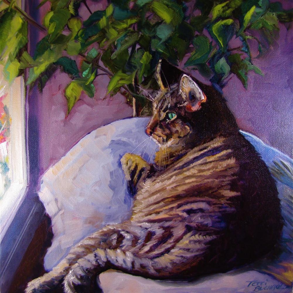 """On Her Break"" original fine art by Terri Buchholz"