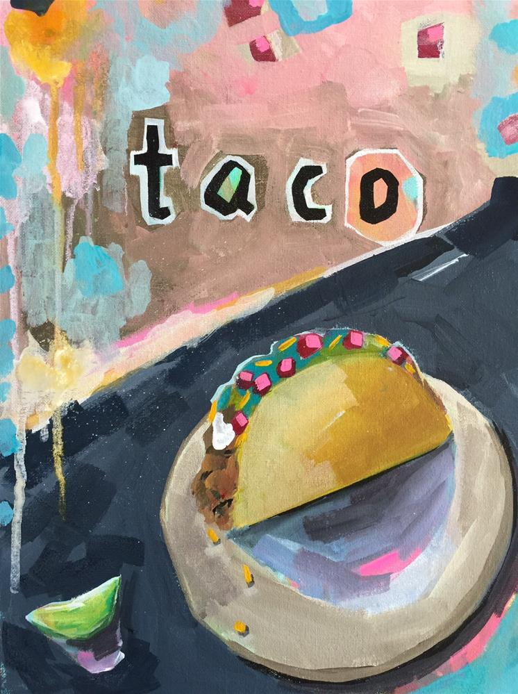 """347 Taco"" original fine art by Jenny Doh"