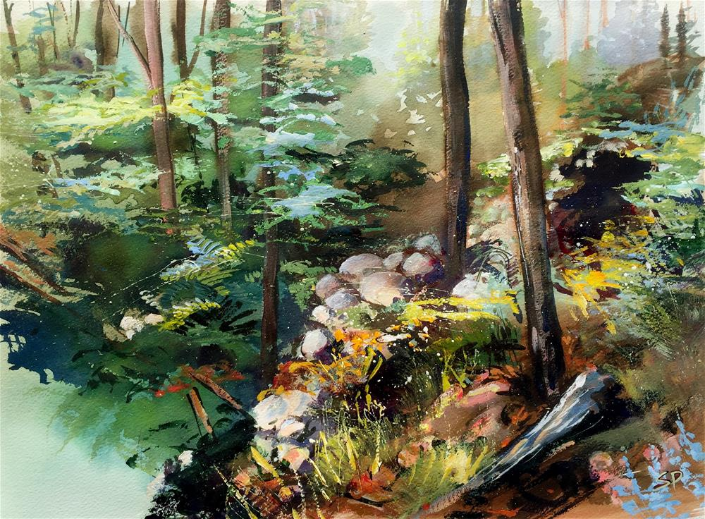"""The Rock Garden"" original fine art by Shirley Peters"