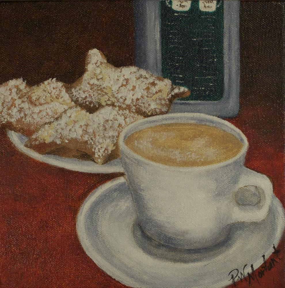 """Beignets in New Orleans"" original fine art by Peggy W Morvant"