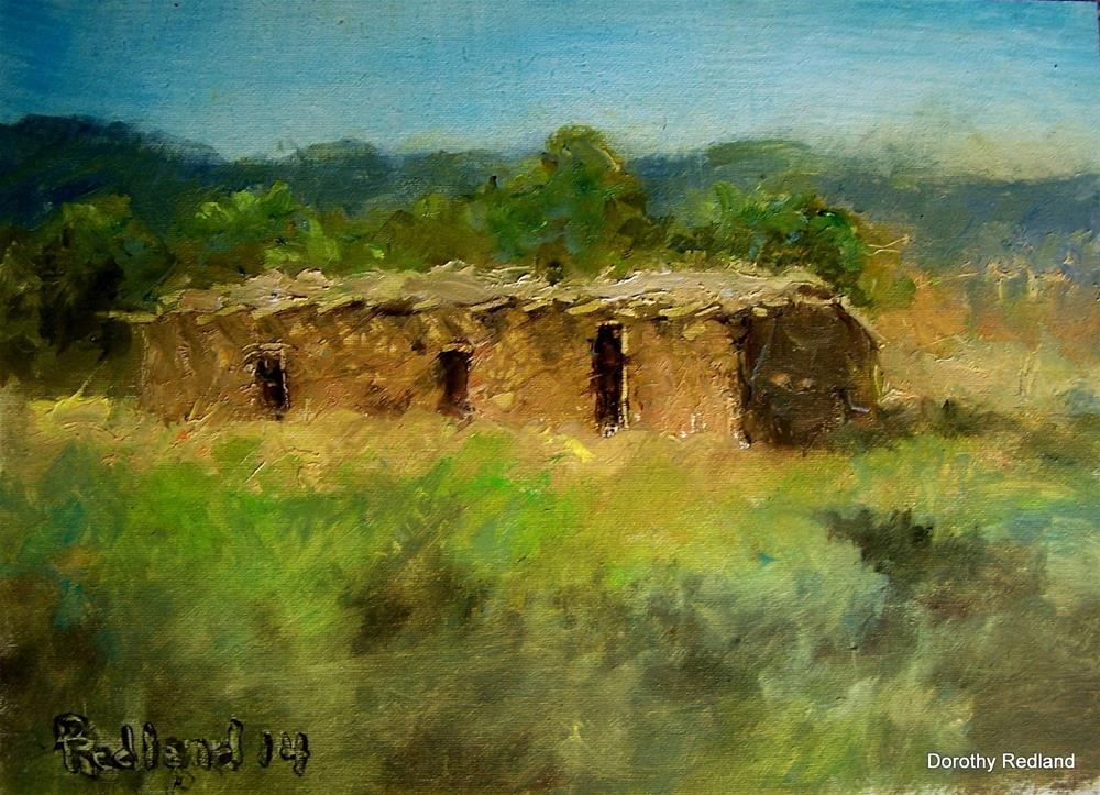 """Old adobe near Taos"" original fine art by Dorothy Redland"