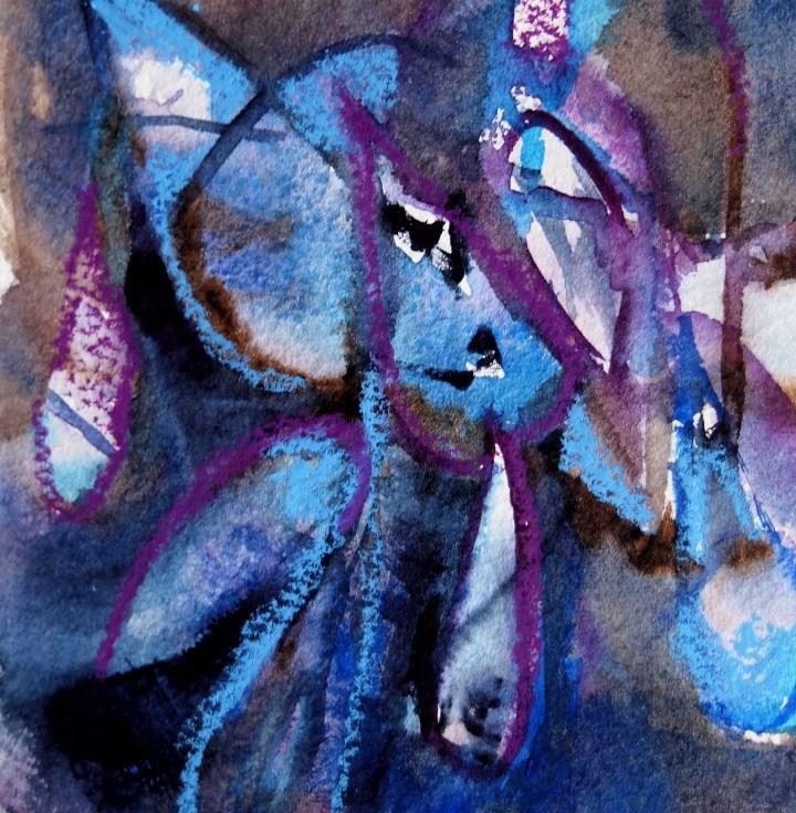 """Blue Tears"" original fine art by Amy Bryce"