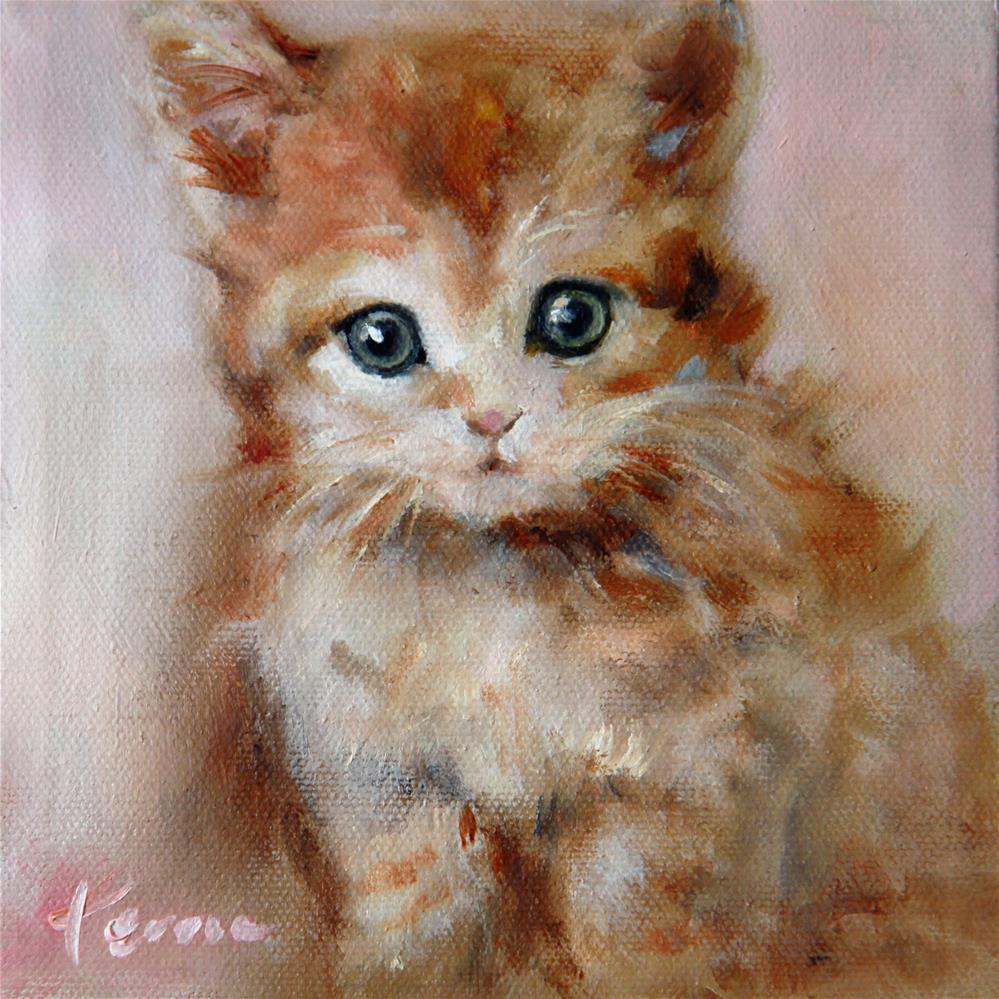 """Cat"" original fine art by Teresa Yoo"