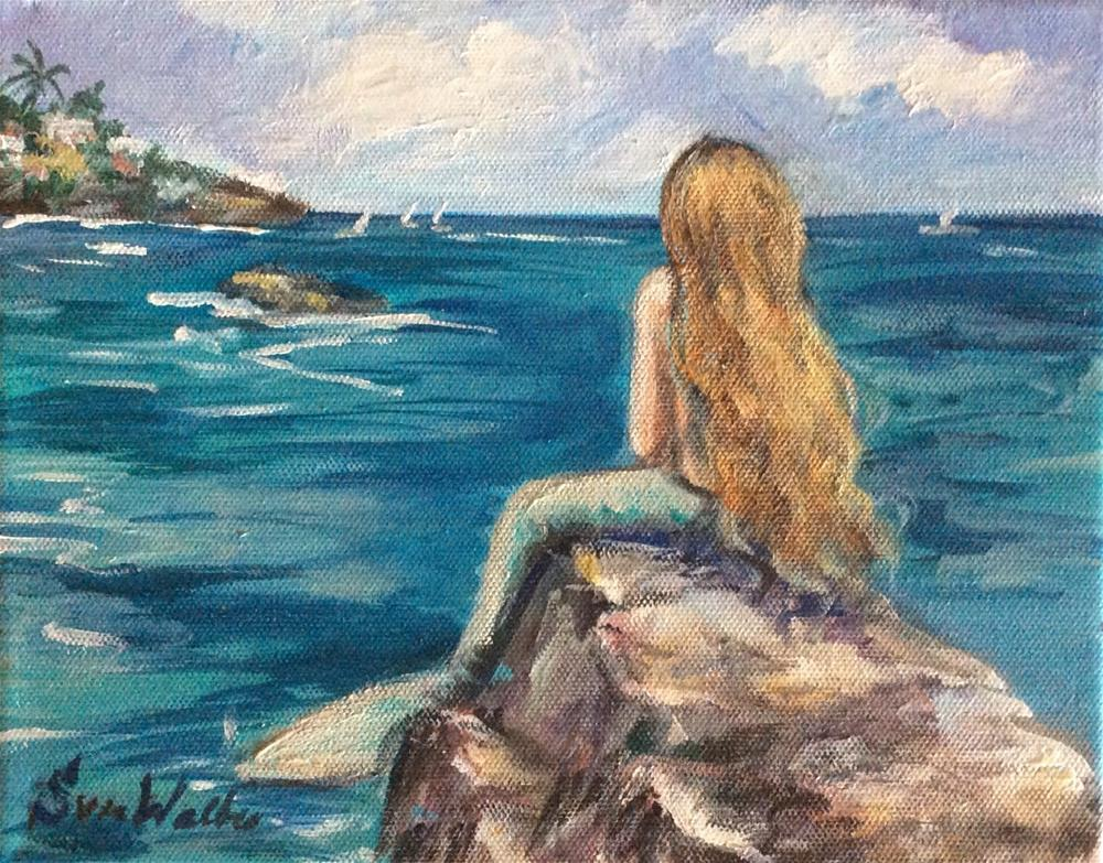 """Mermaid"" original fine art by Sonia von Walter"