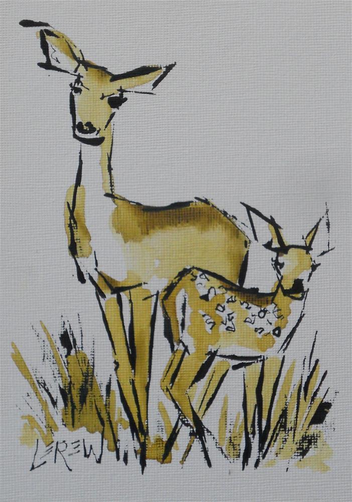 """Serendipity Blot Figure Sketch #13-06-21"" original fine art by Larry Lerew"