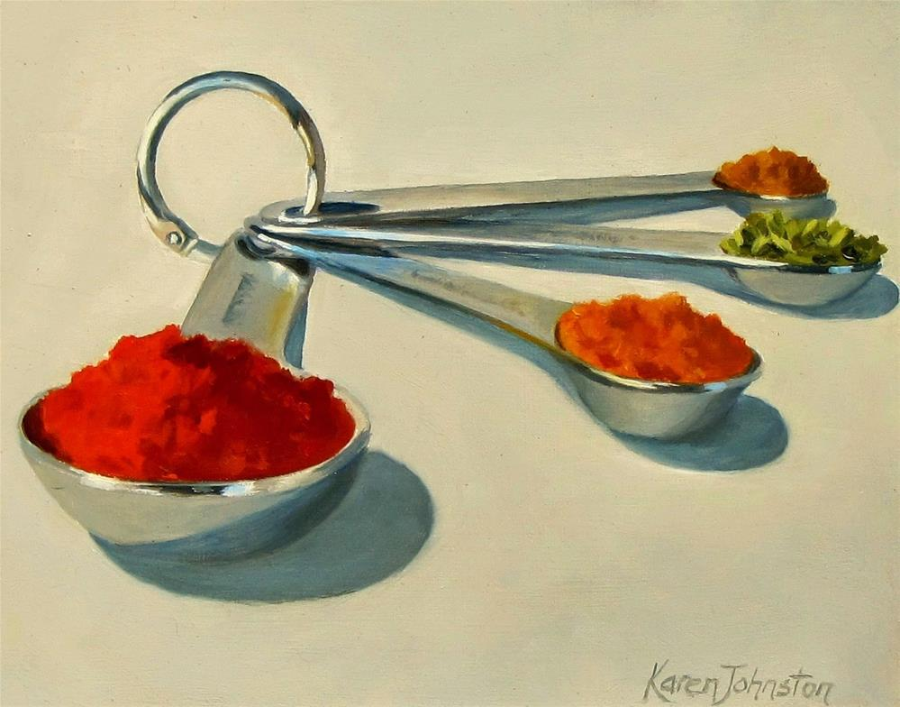 """Spice is Nice"" original fine art by Karen Johnston"