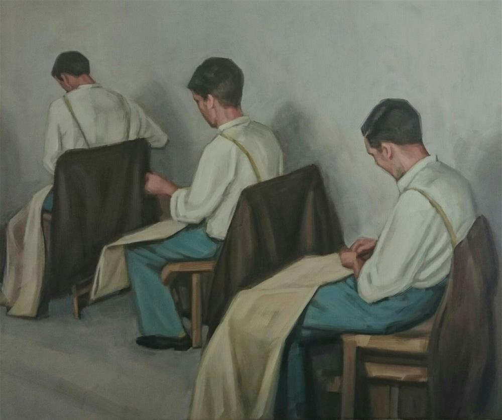 """""""The finishing touch"""" original fine art by Bert Heersema"""