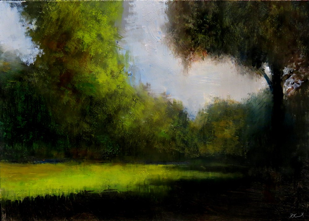 """The Opening in the Woods"" original fine art by Bob Kimball"
