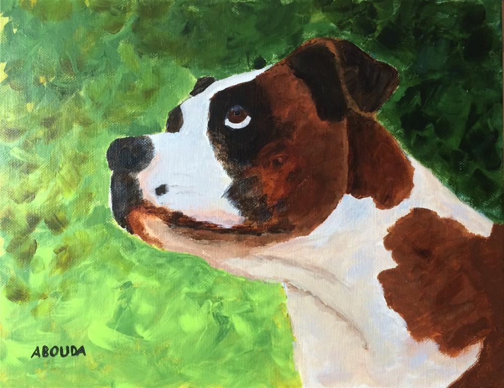 """Ollie the Boxer"" original fine art by Sandy Abouda"