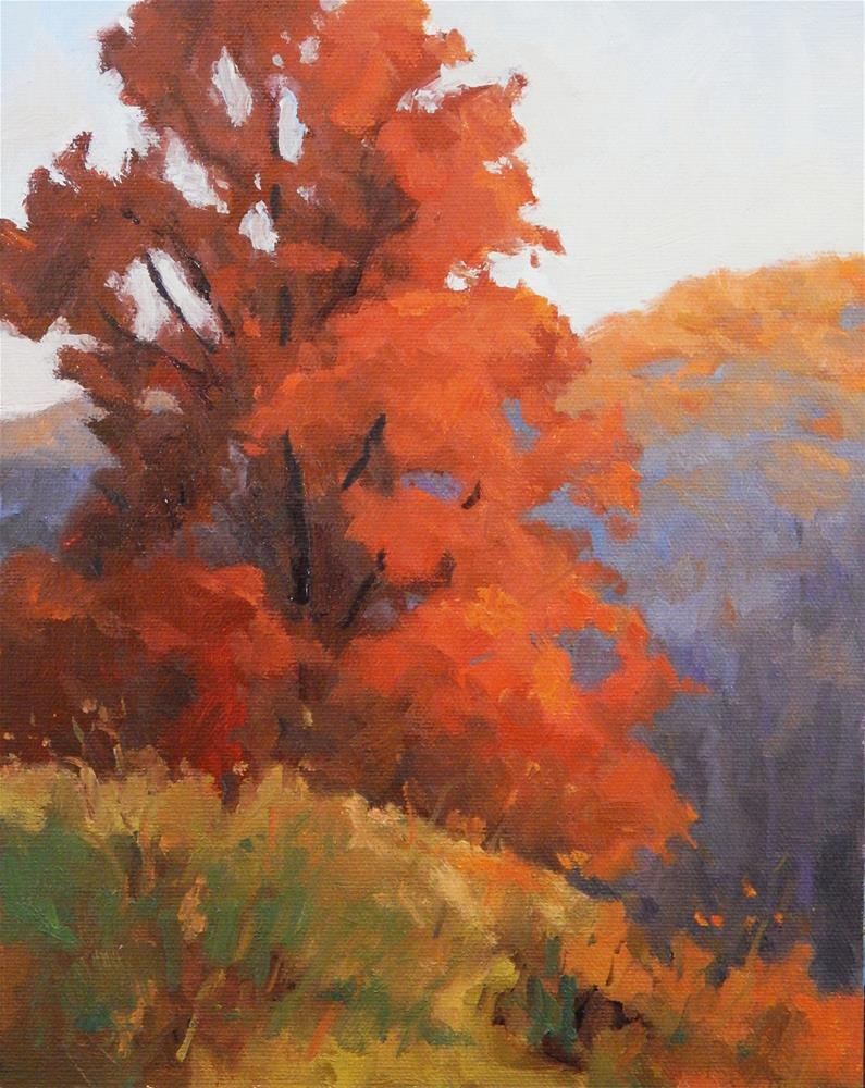 """Autumn Morning"" original fine art by Lisa Kyle"