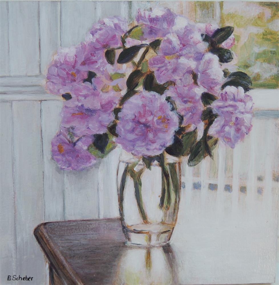"""Peony Glamor"" original fine art by Belinda Scheber"