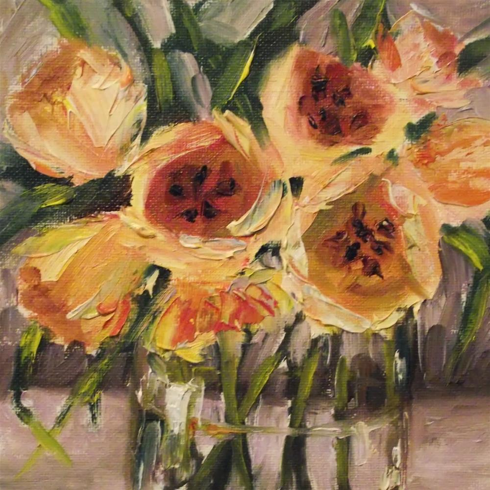 """Tulips In Yellow by Alabama Artist Angela Sullivan"" original fine art by Angela Sullivan"
