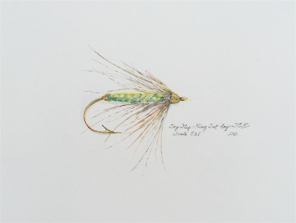 """""""Dry Fly - King Tut"""" original fine art by Jean Krueger"""