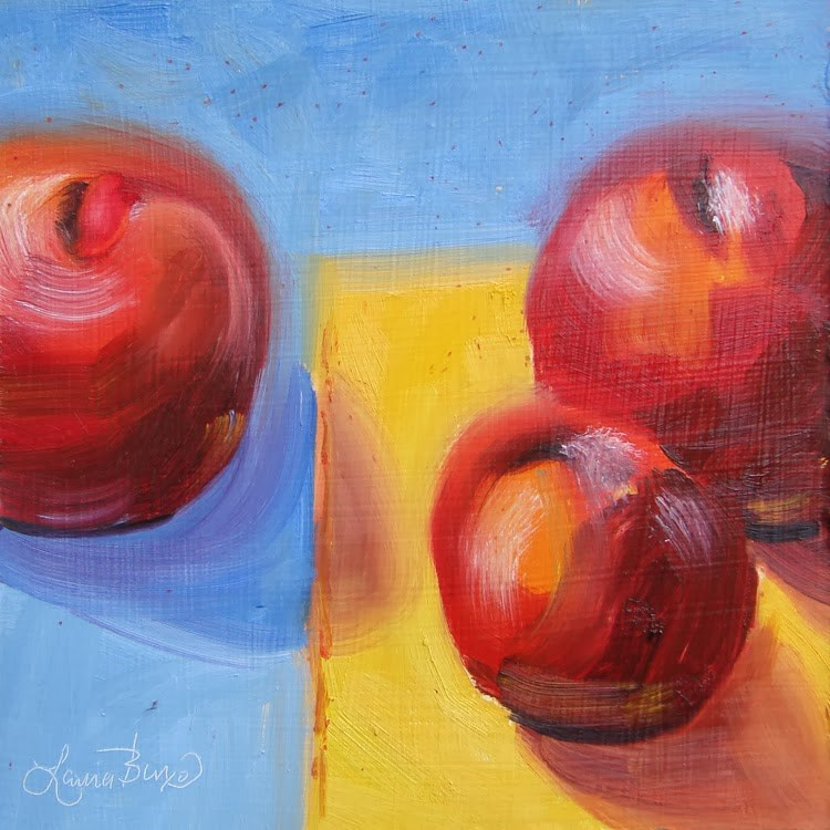 """Red, Yellow and Blue - 83"" original fine art by Laura  Buxo"