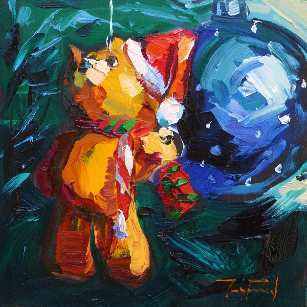 """Merry Christmas!"" original fine art by Jurij Frey"