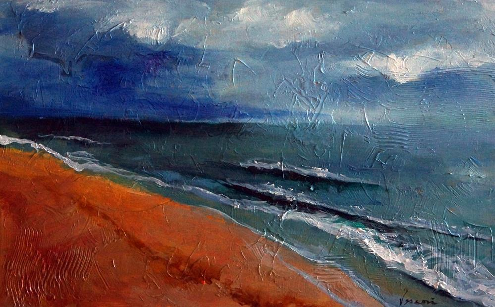 """The Storm Approaches"" original fine art by Valerie Vescovi"
