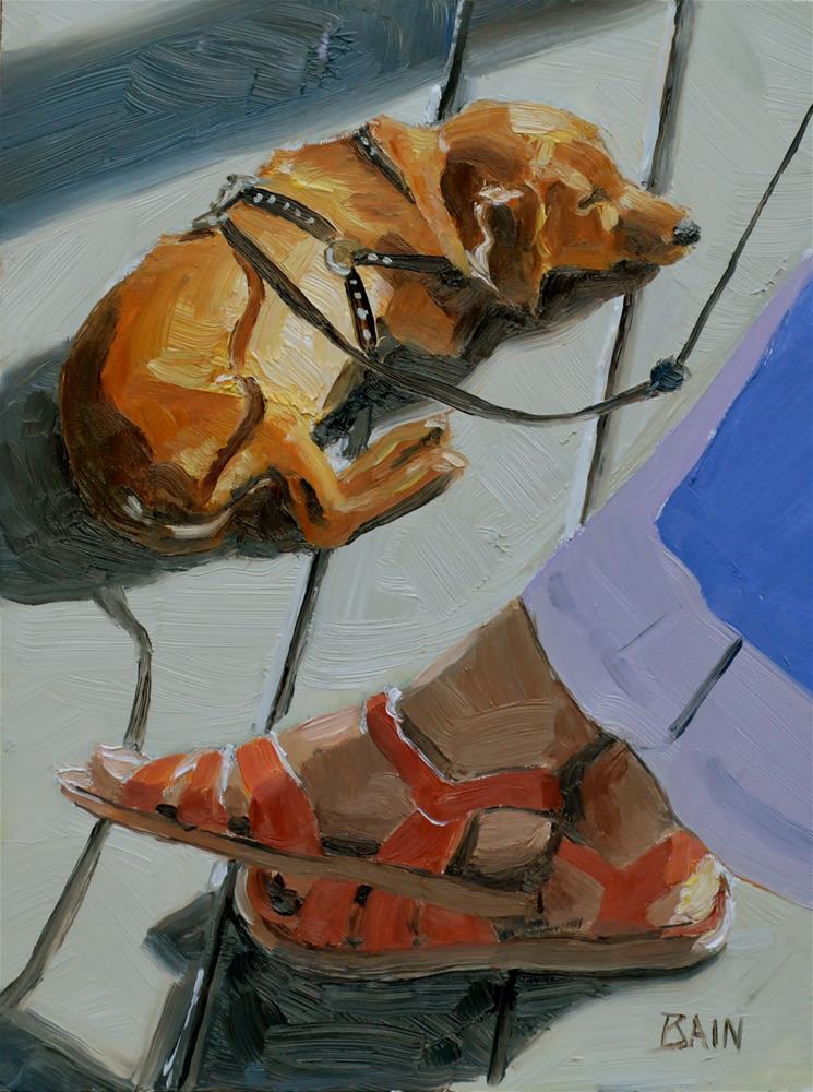 """Afternoon Nap"" original fine art by Peter Bain"