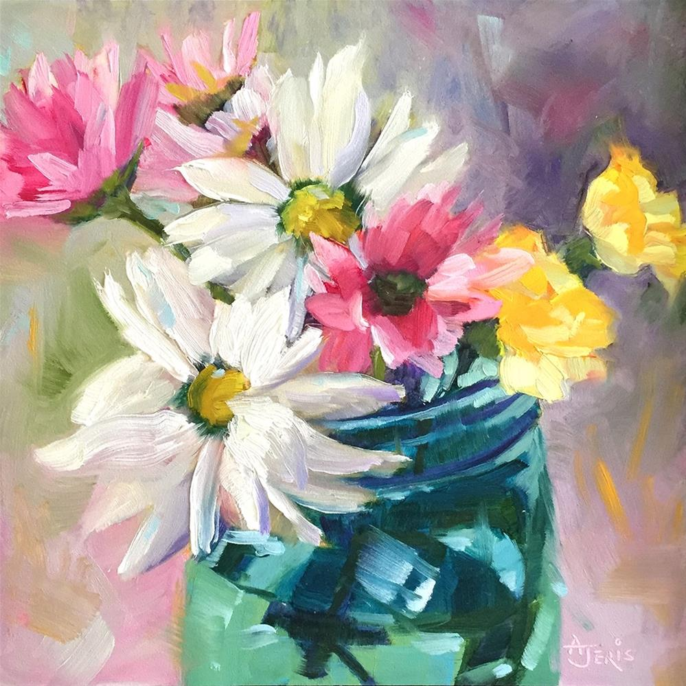 """Daisies & Friends"" original fine art by Andrea Jeris"