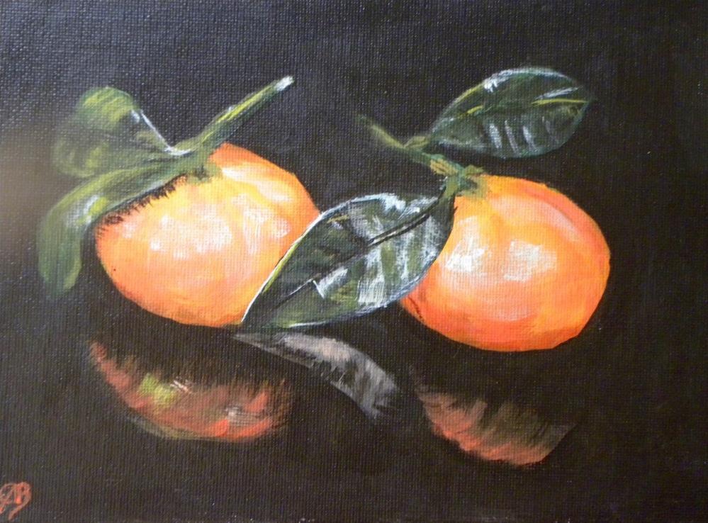 """mandarin reflection"" original fine art by cheryl buhrman"