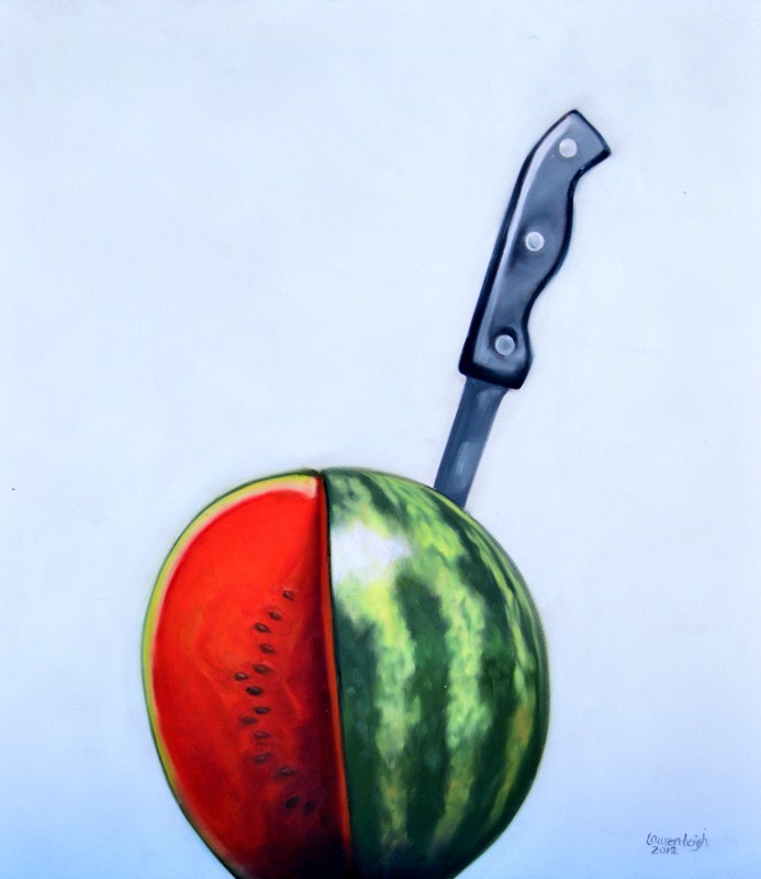 """Sliced Watermelon Commission"" original fine art by Lauren Pretorius"
