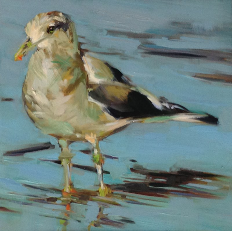 """S is for Samantha Seagull"" original fine art by Patti McNutt"