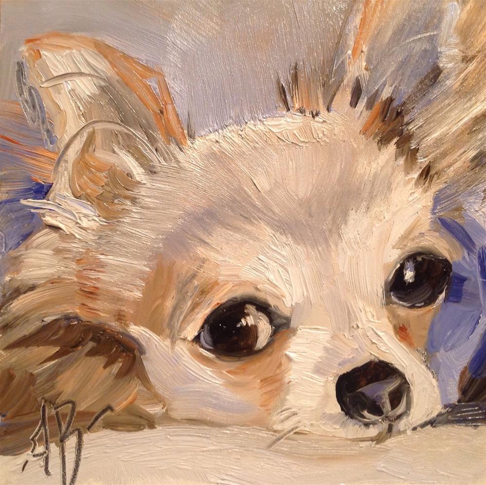 """Little guy"" original fine art by Annette Balesteri"