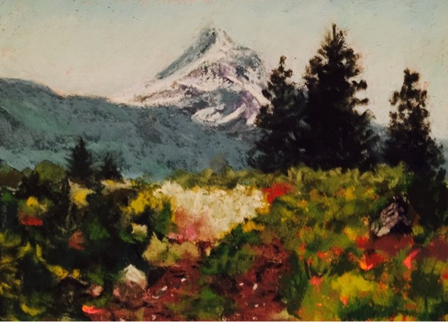 """MT HOOD"" original fine art by Marti Walker"