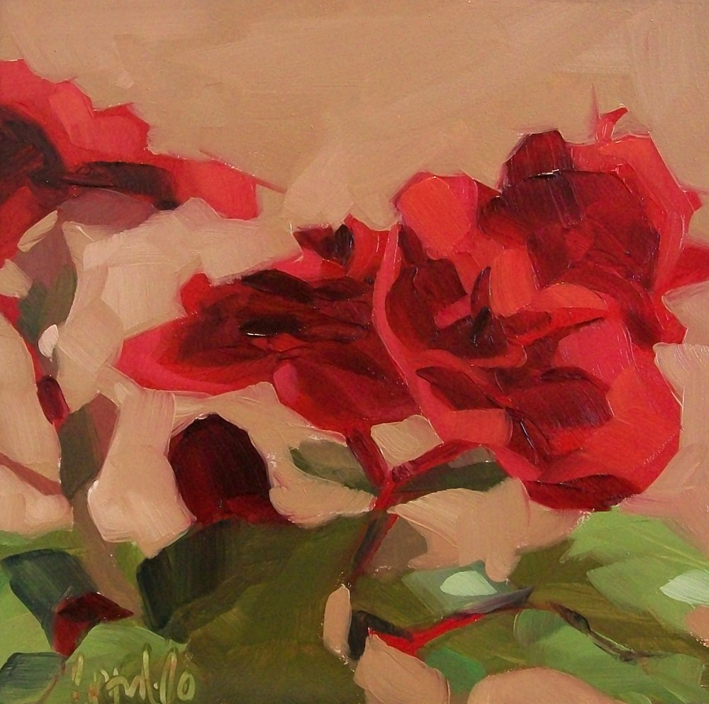 """Red study 1"" original fine art by Brandi Bowman"