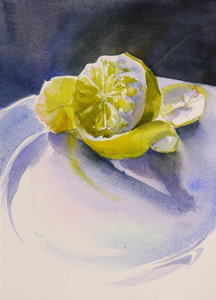 """lemon translucency"" original fine art by Beata Musial-Tomaszewska"