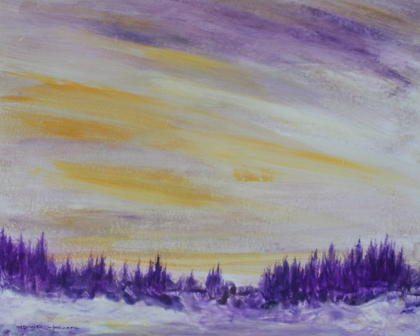 """Late Winter Sky Light"" original fine art by Jana Johnson"