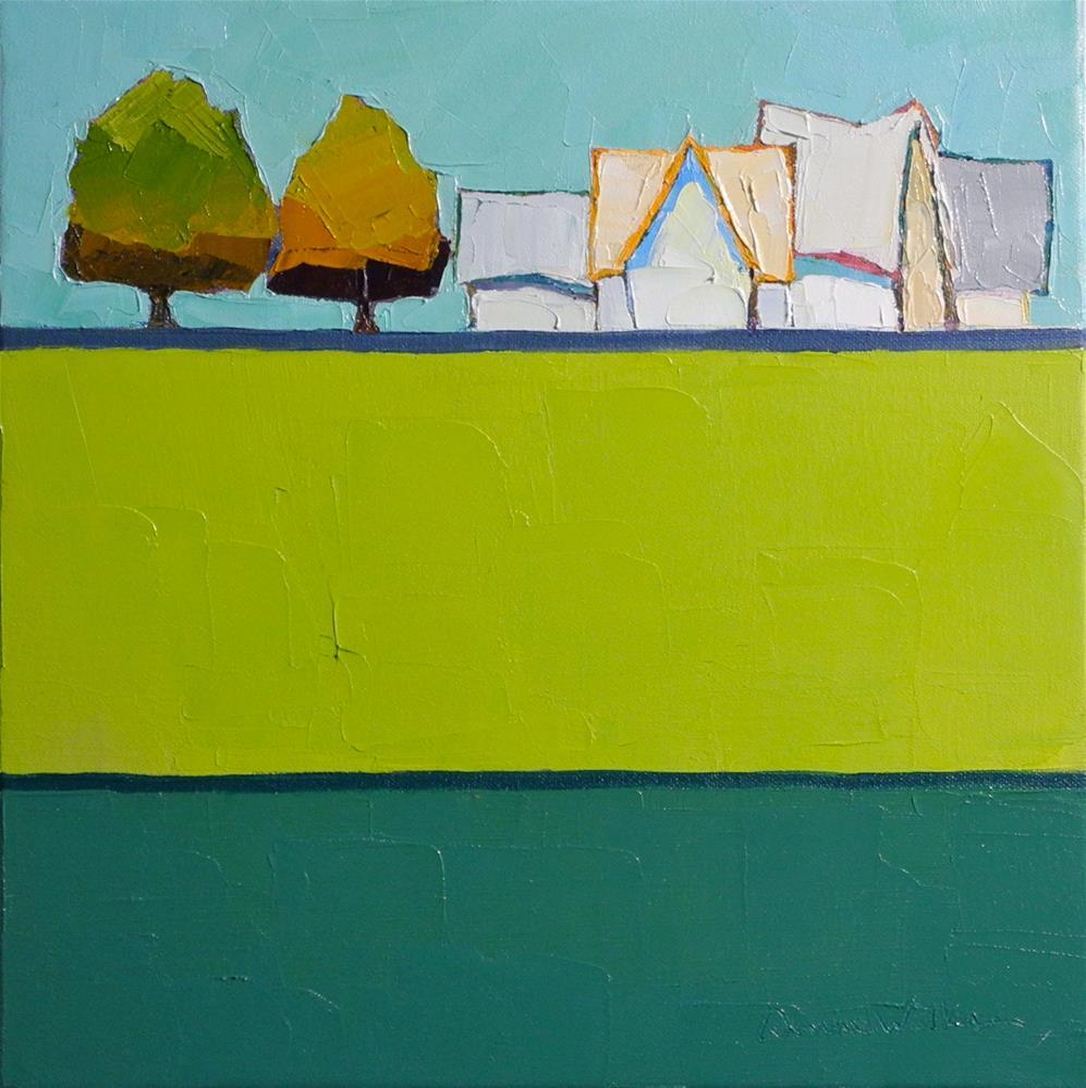 """""""Symphony in Green III"""" original fine art by Donna Walker"""