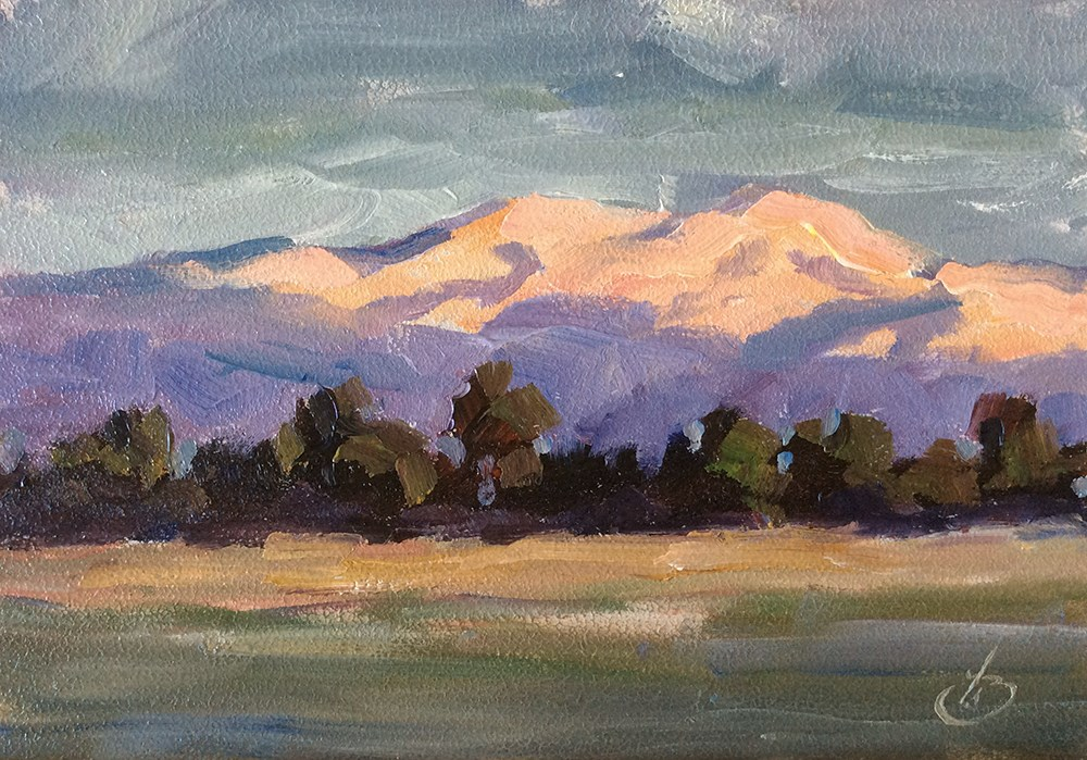 """FOOTHILLS AT DAWN"" original fine art by Tom Brown"