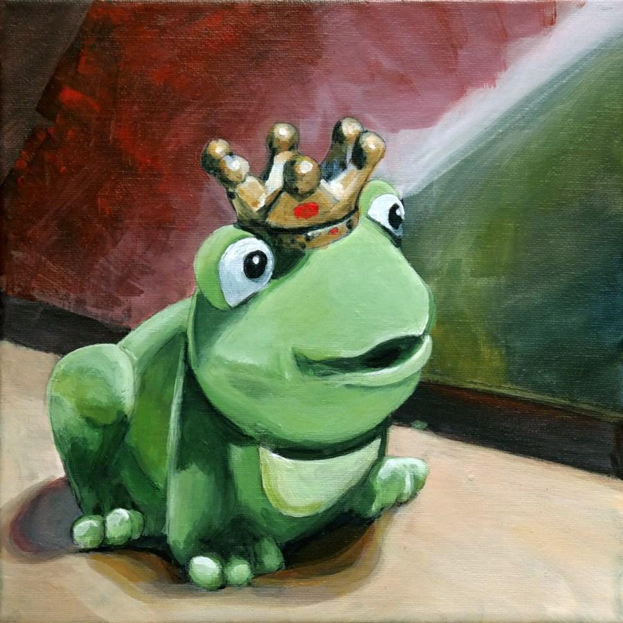 """""""1290 Froggy"""" original fine art by Dietmar Stiller"""