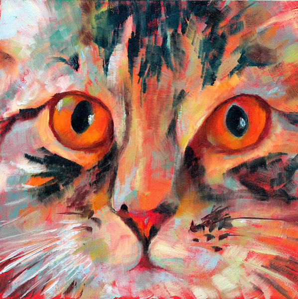 """Tiger Eyes"" original fine art by Brenda Ferguson"