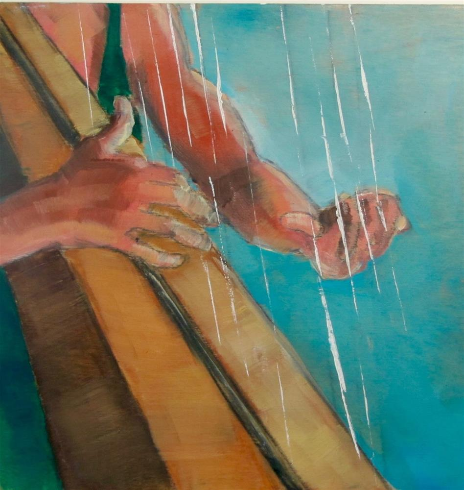 """The Harpist Hands"" original fine art by Christine Holzschuh"