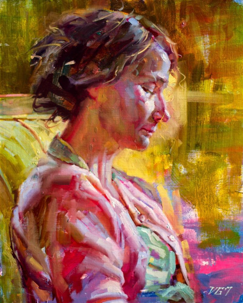 """In Profile No. 4"" original fine art by Dimitriy Gritsenko"
