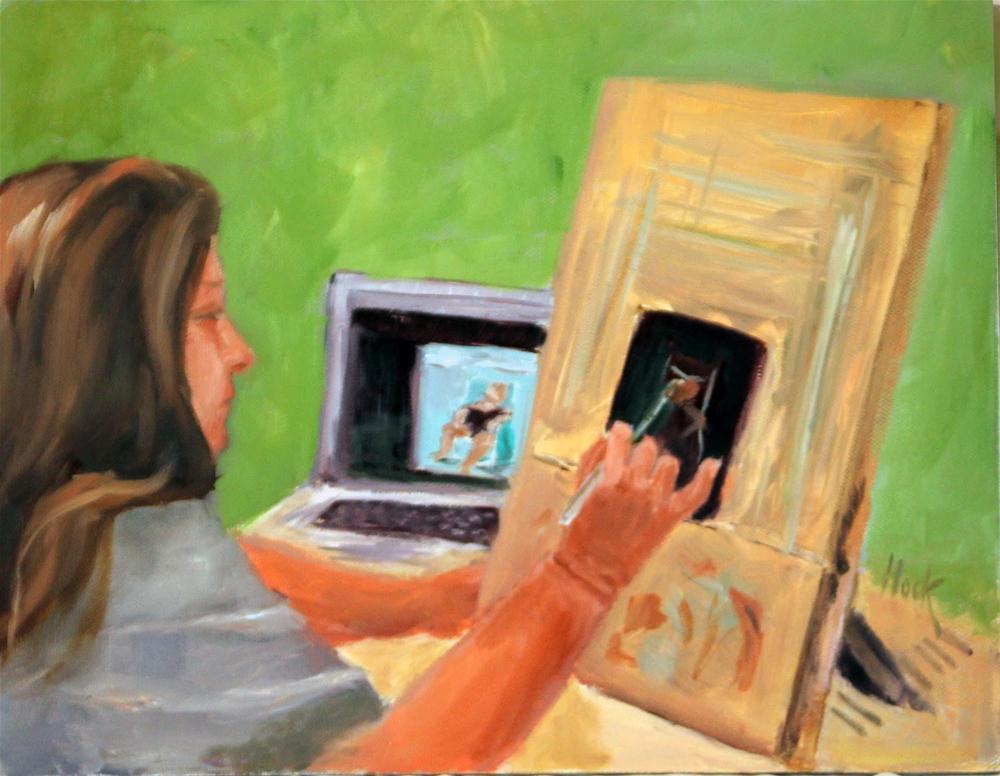 Workshop Demo original fine art by Maria Bennett Hock