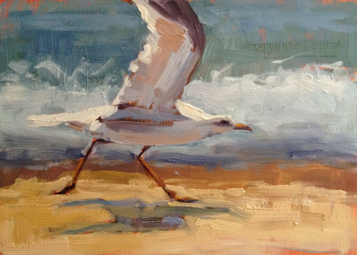 """Take Off"" original fine art by Deborah Newman"