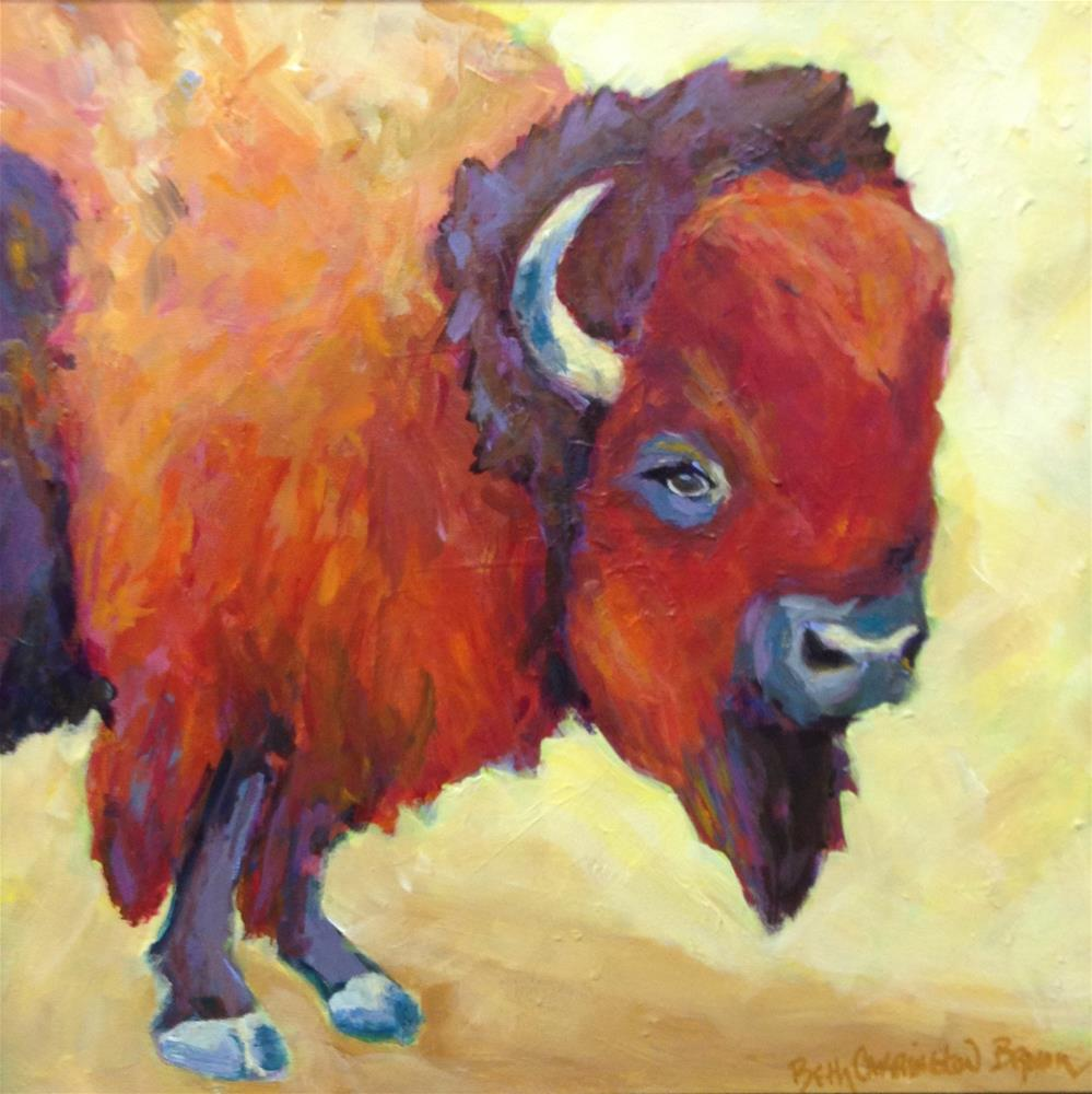 """Big Baby"" original fine art by Beth Carrington Brown"