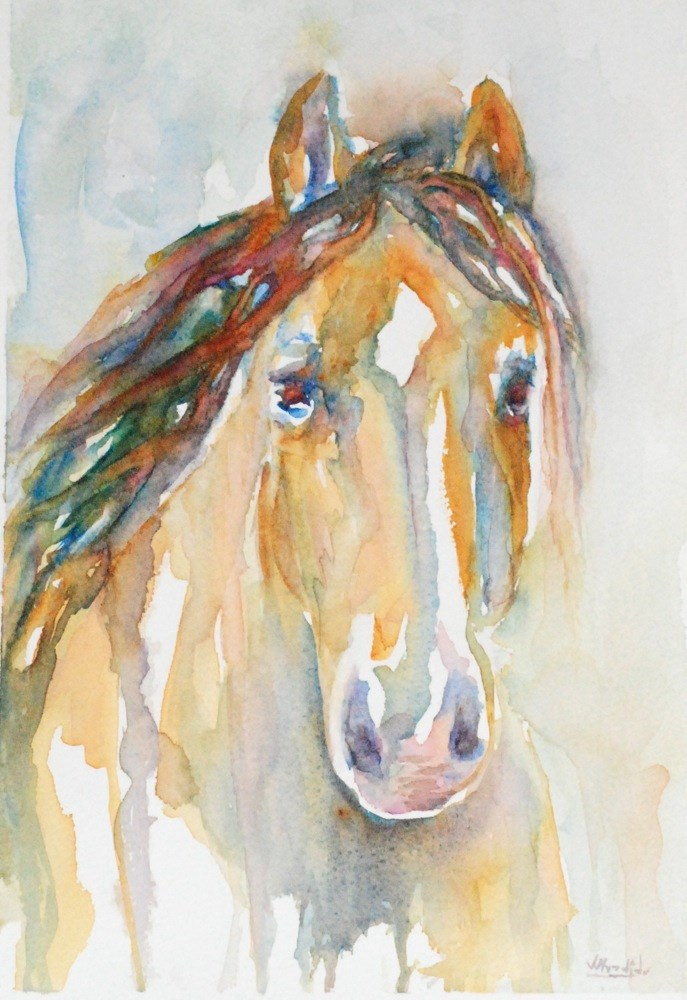 """Sweet Quarterhorse"" original fine art by Vicki Wood"