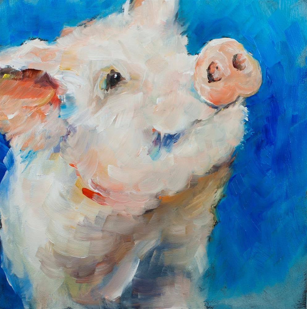 """Little Pig"" original fine art by Sue Churchgrant"