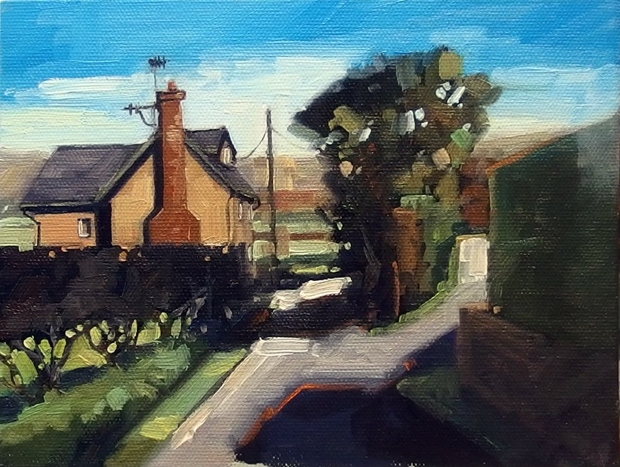 """No 831 Side Lane"" original fine art by Robin J Mitchell"