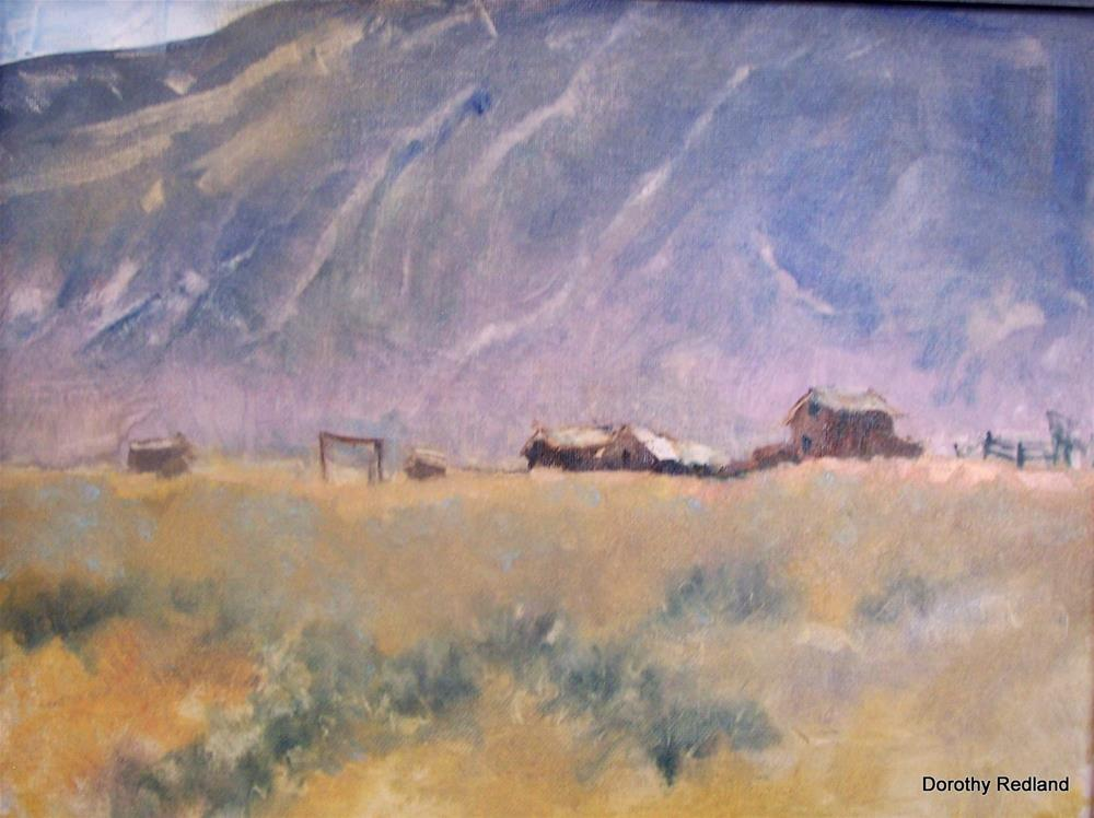 """Under the tall grey hills"" original fine art by Dorothy Redland"