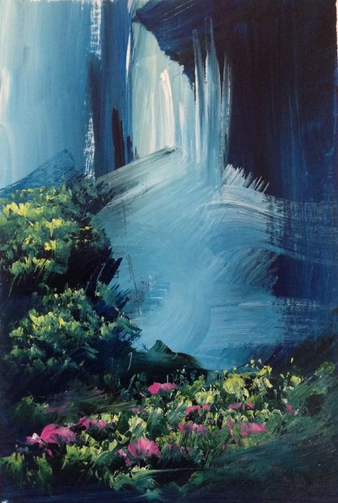 """Let the Words Reach"" original fine art by David Kuhn"