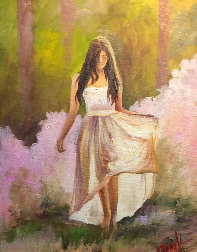 """Azaleas"" original fine art by Carol Roark"