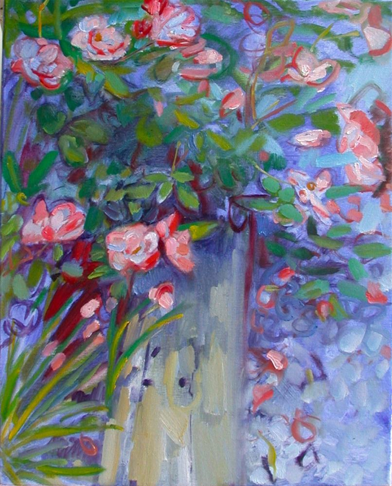 """""""May Roses"""" original fine art by Polly Turner"""