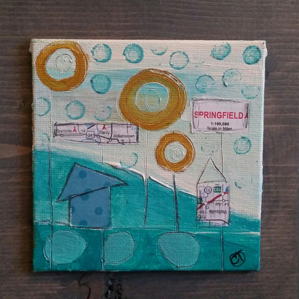 """Turquoise 6 House # 135"" original fine art by Christy Tremblay"