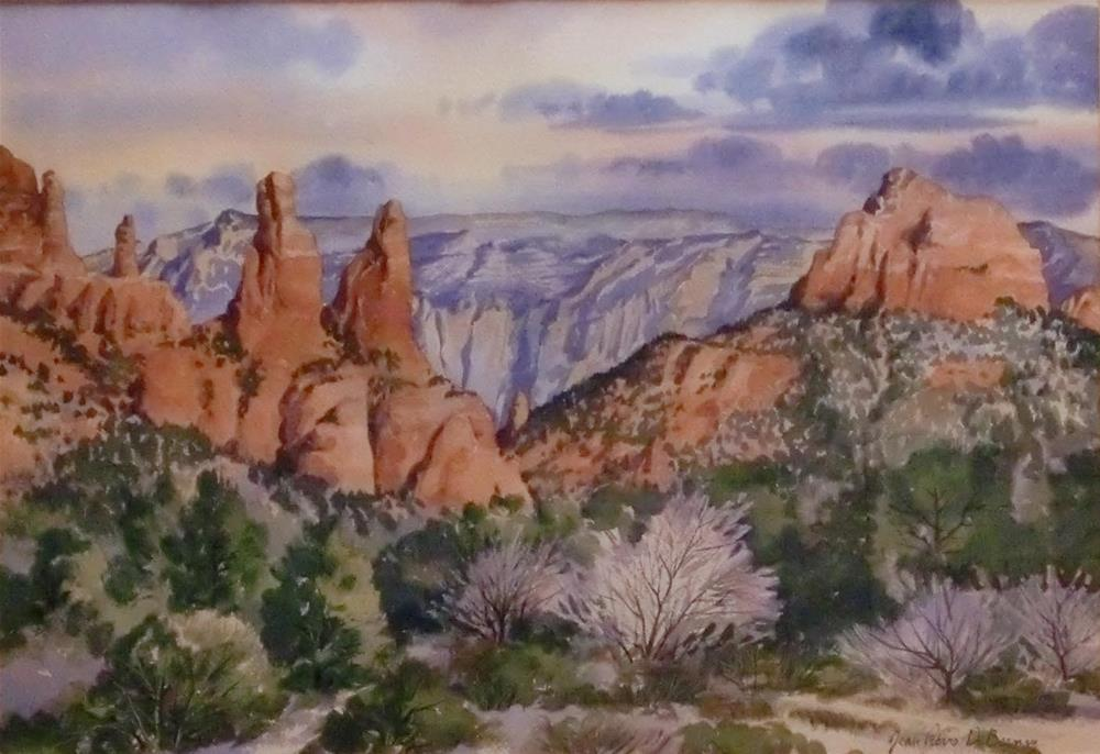 """The Sisters, Sedona, framed"" original fine art by Jean Pierre DeBernay"