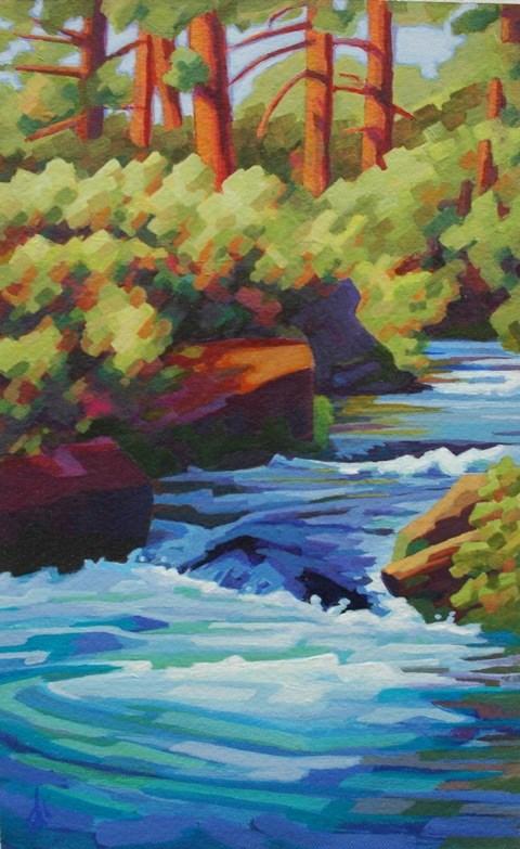 """Canyon Creek"" original fine art by Mark Allison"