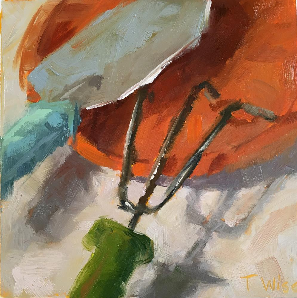 """Garden Tools"" original fine art by Tracy Wise"